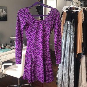 Betsey Johnson purple leopard dress